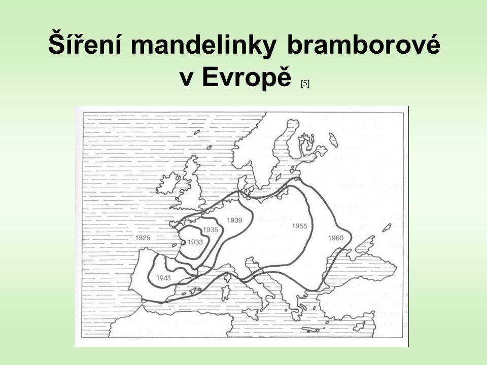 Šíření mandelinky bramborové v Evropě [5]